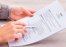 Executive Recruiter examines resume